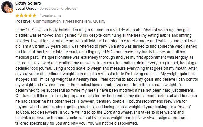 Weight Loss Chandler AZ New Viva MD Weight Loss Patient Testimonial